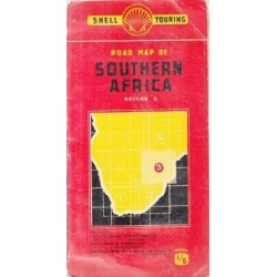 Road Map of Southern Africa (Shell) 3 Sections