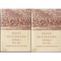 Reisen im Sudlichen Afrika 1803-1806, Vol I & II