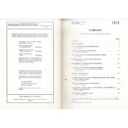 NADA - Vol X1 No 1 1974 (The Rhodesia Ministry of Internal Affairs Annual)