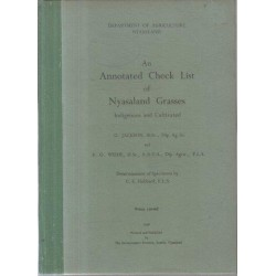 An Annotated Check List Of Nyasaland Grasses Indigenous And Cultivated