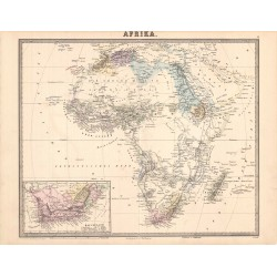 Map of Afrika (Hoffmann)