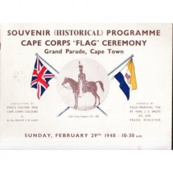 Souvenir Historical Programme Cape Corps Flag Ceremony - Grand Parade, Cape Town
