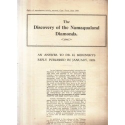The Discovery of the Namaqualand Diamonds - An Answer to Dr Merensky
